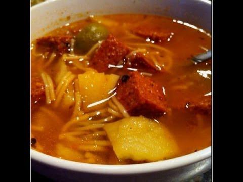 How To Make Sopas De Salchichon | Sausage Soup