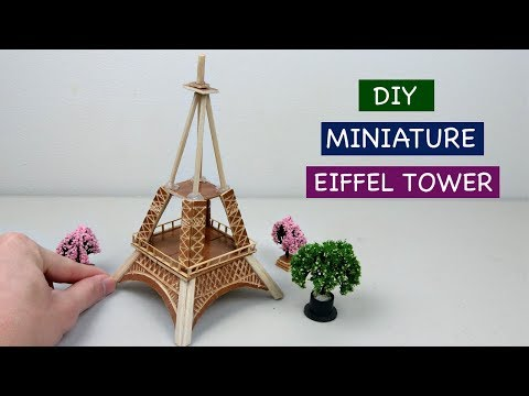 DIY Miniature Eiffel Tower of France | Easy Craft ideas - How to make