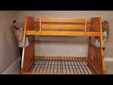 How to Build a Twin Over Full Bunk Bed from FactoryBunkBeds.com