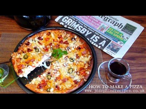 How To Make a Pizza | Super Crispy Thin Crust Pizza | DIY薄脆披薩 - JosephineRecipes.co.uk