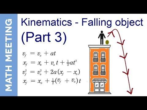 Kinematics - Falling object (part 3)