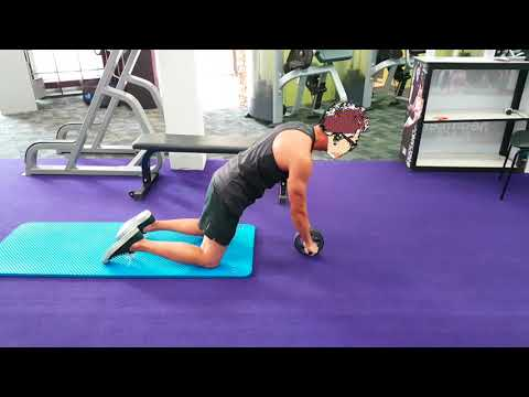 Core Workout - Ab Wheel Roller Rollout Exercise