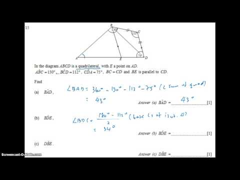 GCE NA Level 2009 P1 Q15