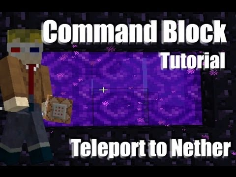 Teleport to Nether using command blocks in Vanilla Minecraft
