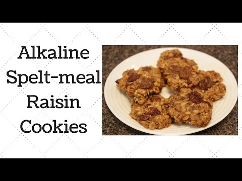 Spelt-meal Raisin Cookies Dr. Sebi Alkaline Electric Recipe