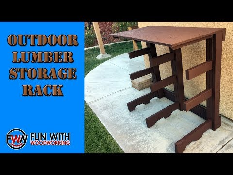 Project - Build an Outdoor Lumber Storage Rack out of scrap wood