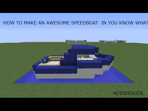 How To Make An Awesome Speed Boat in Minecraft