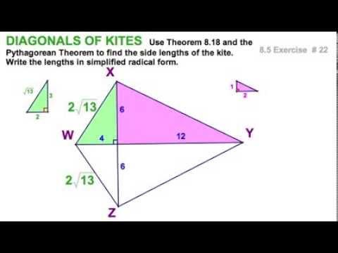 8.5 Kites - diagonals & angles - 5 exercises