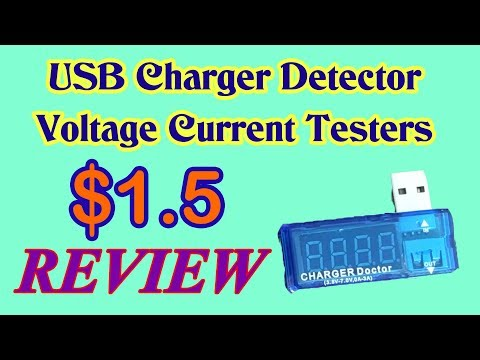 USB Charger Detector Voltage Current Testers - Review | Som Tips