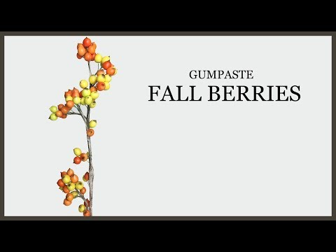 Fall Sugar Paste Berries Tutorial: Fall Cake Decorating - Gumpaste Fillers - Realistic Branches