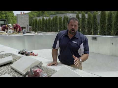 Pool Coping - Preparation and Adhesion