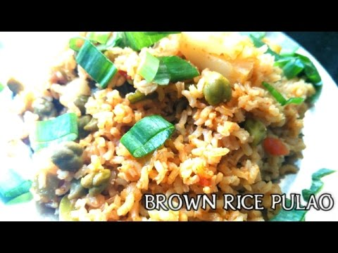 Brown Rice Pulao Recipe(Hindi)-Healthy Recipe-DO AT HOME