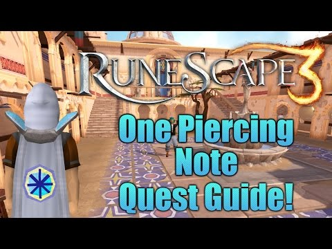 Runescape 3: One Piercing Note Quest Guide!