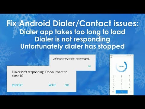 Fix Android contact or dialer related issues