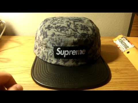 4ace8dbc7c4 Supreme x Liberty Pinwale Cord Leather Visor Black Camp Cap Review Fall  WInter 2012 Box Logo