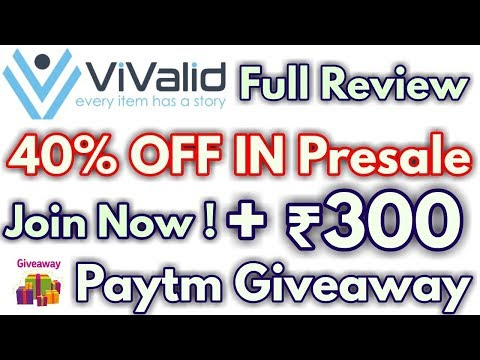 Vivalid PreICO | 40% OFF Tokens | Rs.300 Paytm Giveaway !