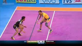 Tamil Thalaivas | Kabaddi | Ajay Thakur Super 10 vs Telugu Titans