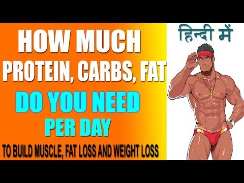 How Much Protein, Carbs And Fat Do You Need Per Day To Build Muscle, Fat Loss And Lose Weight -Hindi