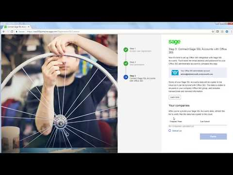 Sage 50c Accounts (UK) -  Activate and integrate with Microsoft Office 365