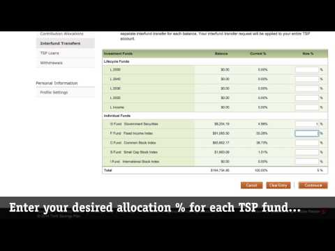 How to request a TSP Interfund Transfer (IFT) on tsp.gov