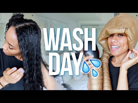 Wash + Style My Hair With Me 💦 Step by Step