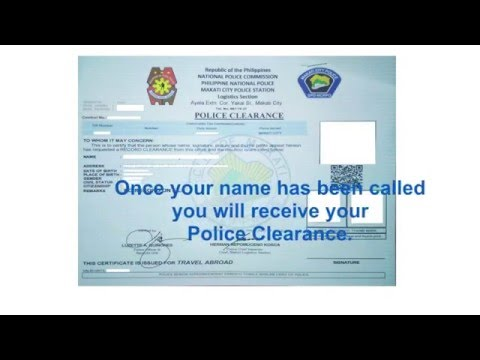 Step by step Philippines Police Clearance Application
