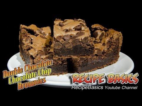 Double Chocolate Chocolate Chip Brownies Recipe