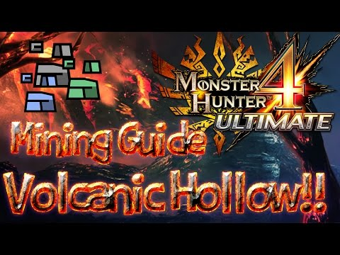 MH4U Mining Guide! - Volcanic Hollow: FAST & EASY ORE GRINDING!