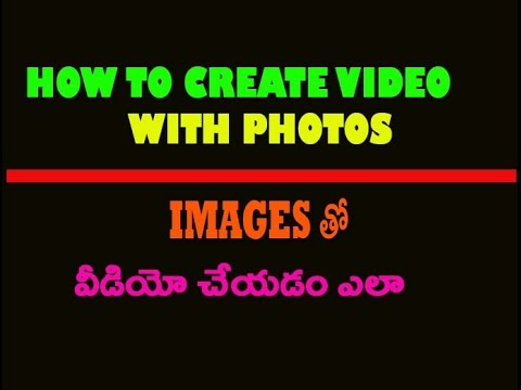 How to make a free beautiful video from your pictures telugu