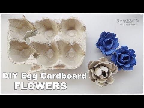 DIY EASY Flowers from Egg Cardboard ♡ Maremi's Small Art ♡