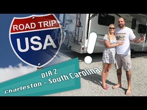 RV Trip (Road Trip) - Miami to New York Day 02 - Charleston - South Carolina