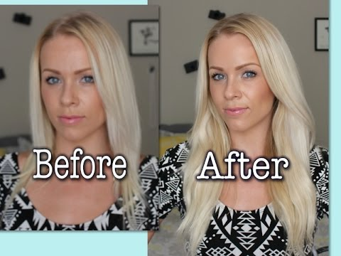 3 minute Hair Tutorial   How to Apply Halo Extensions