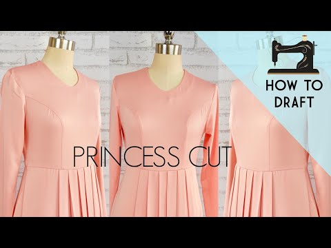 Princess Cut blouse | how to draft a perfect princess dart in a professional way