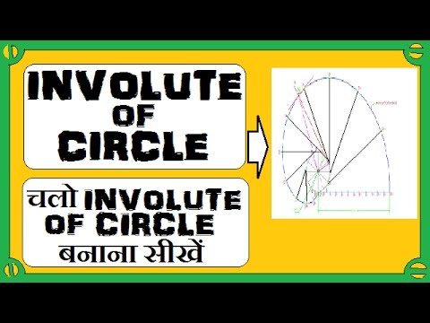 how to draw an involute of a circle also normal and tangent to the circle.[HINDI]