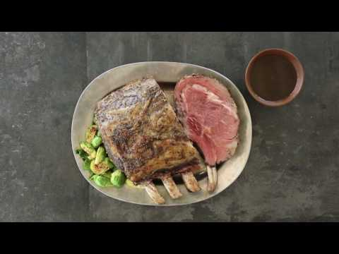 Prime Rib Roast with Rosemary & Thyme au Jus