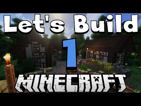 Let's build a village in Minecraft - Basic roads and first house