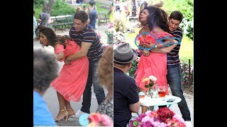 Priyanka Chopra Wardrobe Malfunction CLEVAGE with and Adam Devine Grabbing her BOOBS
