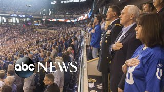 Pence leaves Colts game after players kneel