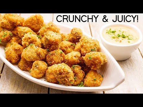 Gobi Popcorn Recipe - New Party Snack Crunchy & Juicy Cauliflower Bites - CookingShooking
