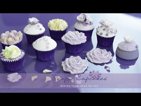 Simple Sugar Flowers for cake decorating and cupcakes