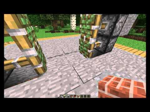 Minecraft 1.2.5: compact 2x3 Piston door (Tutorial:Easy)