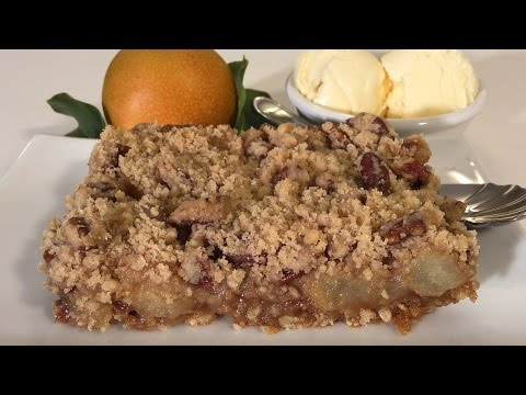 How To Make Asian Pear Crumble Dessert-Asian Food Recipes