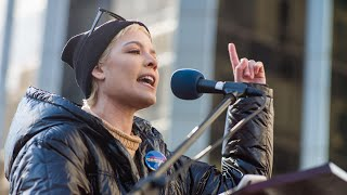 Powerful poem about sexual abuse delivered by Halsey at New York Women's March