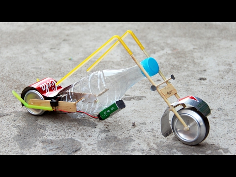 How to Build 9v Battery Powered Motorcycle at Home Easy