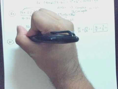 Find the quotient of complex numbers