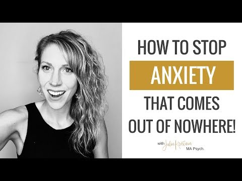 How To STOP Anxiety that Comes Out of Nowhere