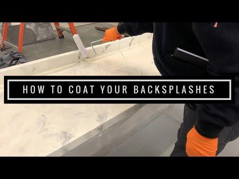 Epoxy Countertop Tutorial: How to Coat your Backsplashes