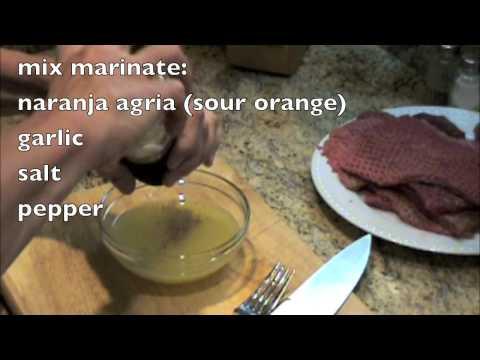 BISTEC DE PALOMILLA Grilled Cuban-Style Marinated Steak