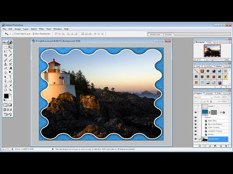 Photoshop tutorials |How to Create a Photo Frame with a Costume Shape in Photoshop
