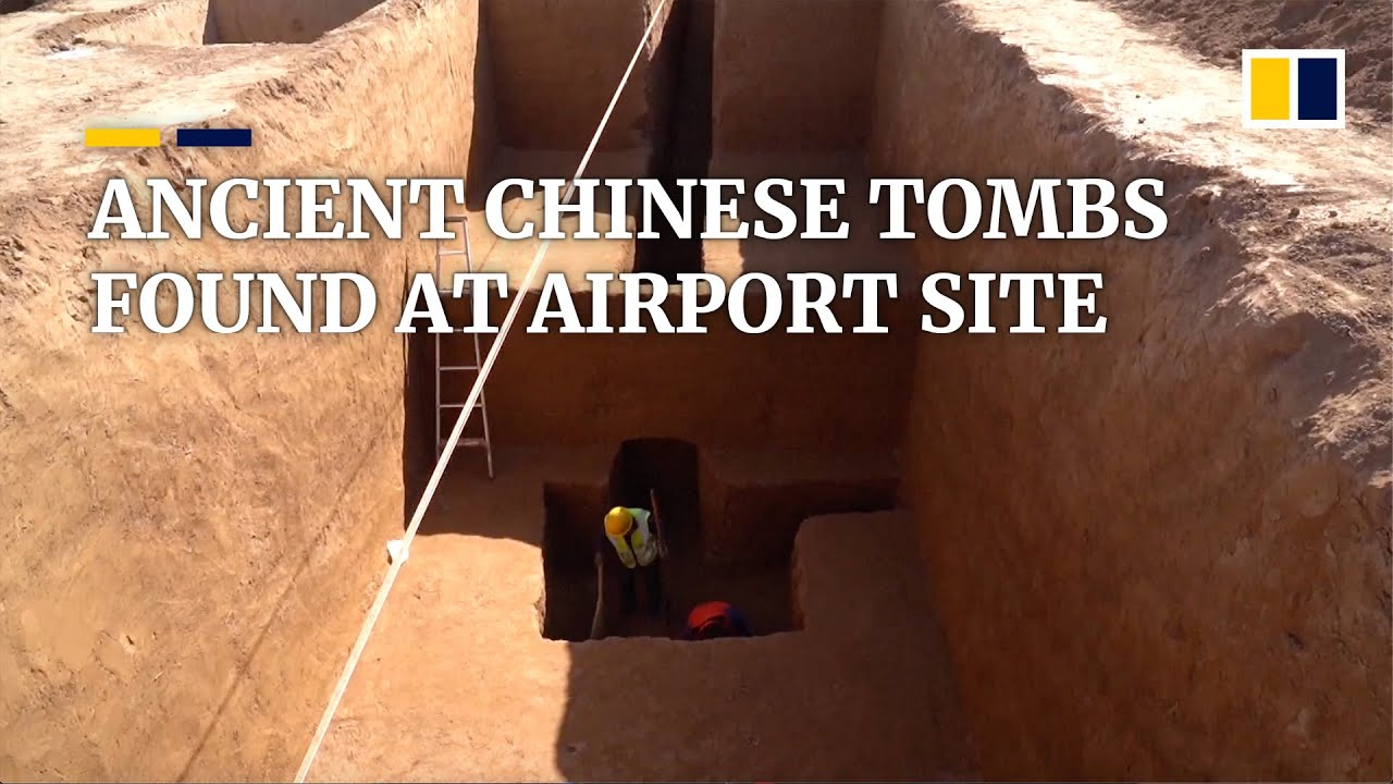 Cultural relics recovered from ancient tombs in China in race against airport construction work